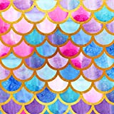 TMOTN 5x7ft Mermaid Scales Photography Backdrop Party Princess Glare Glitter Birthday Banner Photo Studio Booth Background Newborn Baby Shower Photocall D1704