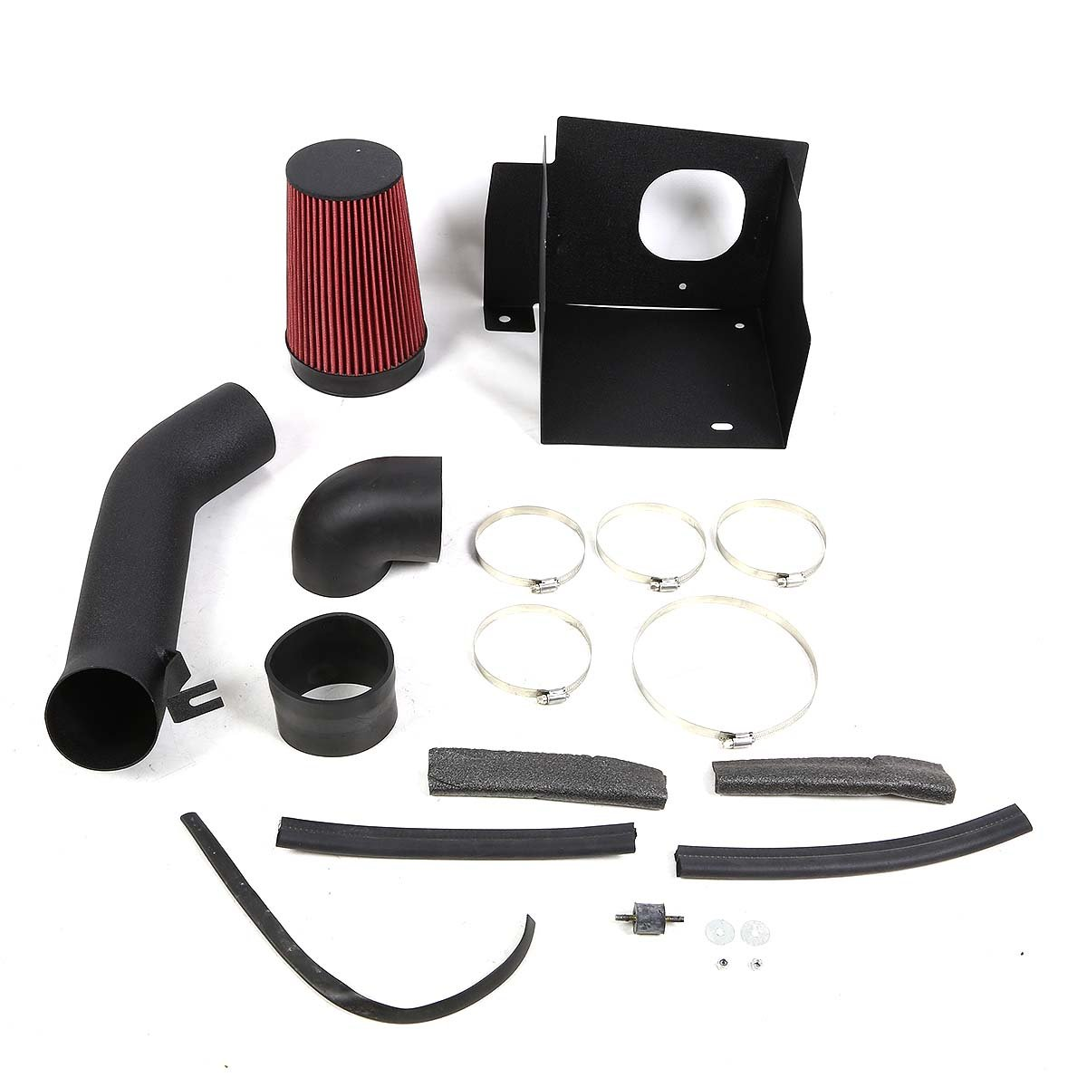 DNAMotoring AIP-2-HS-HUMMER0360L-BKBK Cold Air Intake System and Heat Shield
