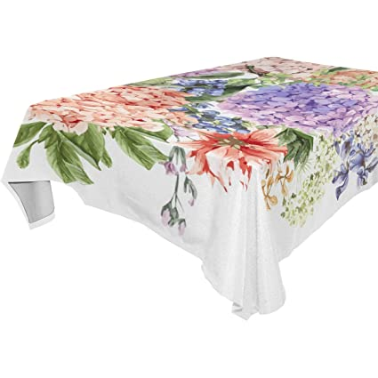 d4aa1c29e1 Amazon.com  imobaby Blooming Hydrangea Tablecloth for Dining-Table ...