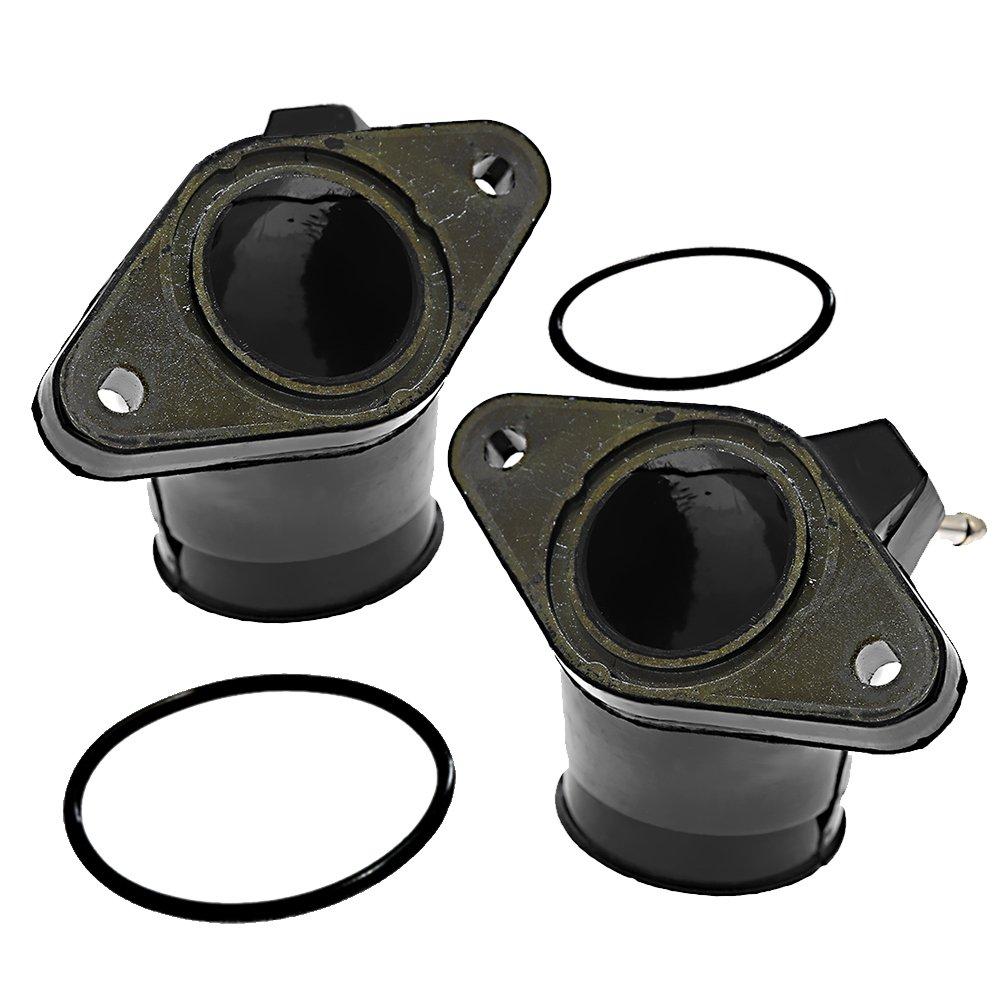 Carburetor Intake Manifold Holder Boot For Yamaha XVS650 V-Star Carburetor  Joint Replace part # 4TR-13586-01-00/4TR-13596-01-00(Pack of 2)