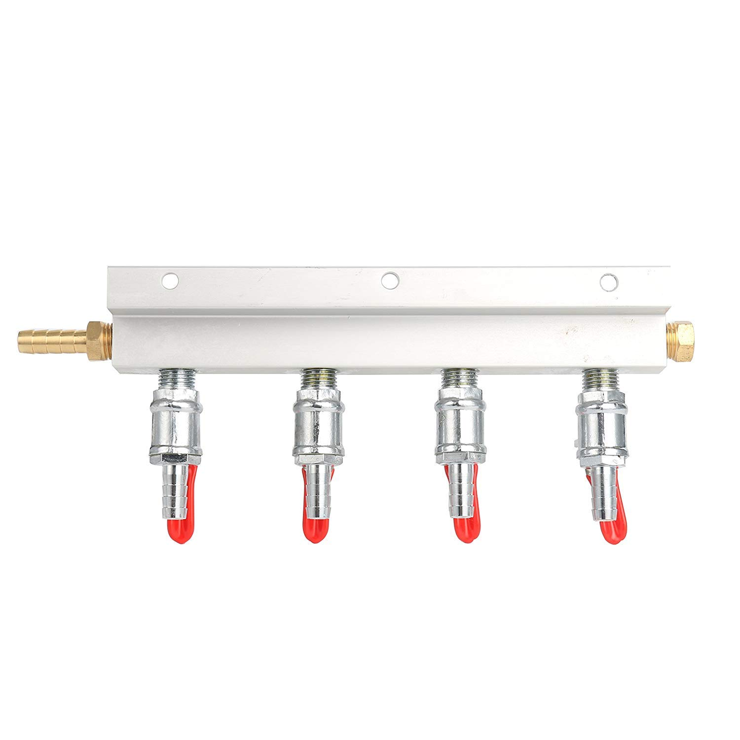 YaeBrew Gas Manifold, Beer Gas Distributor, Air Distributor CO2 Manifold - Splitter 5/16'' Barb Fittings (4 Way)