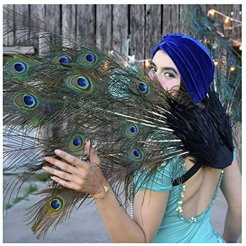 Adult Peacock Feather Costume Wing - Large Fairy Angel wings]()