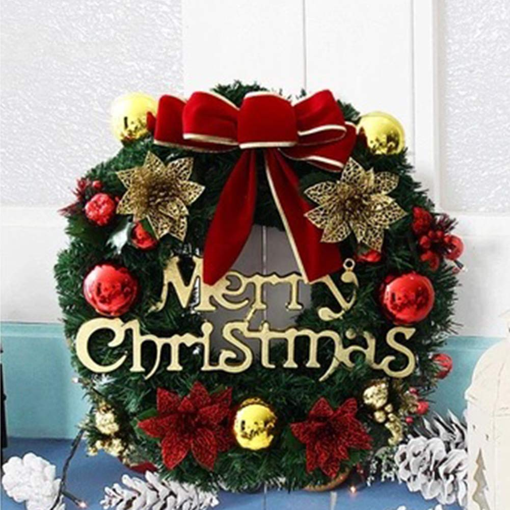 Buy Leoie Christmas Wreath Garland Hanging Pendant Stylish For Home