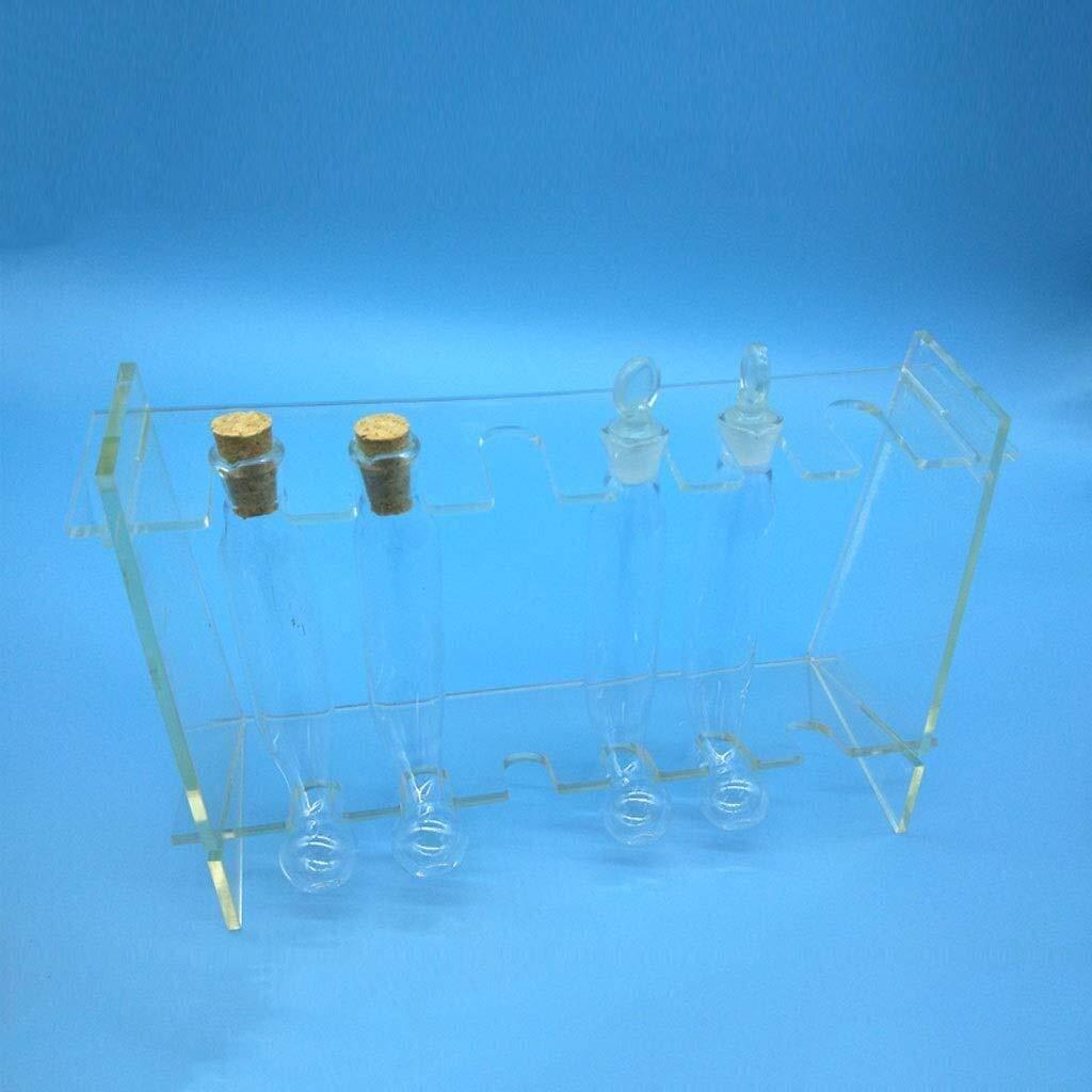Wyyggnb Laboratory Equipment Glassware Liposuction Bottle Cork Glass Stopper About 100ML Matching Plexiglass Frame Experimental Determination by Wyyggnb