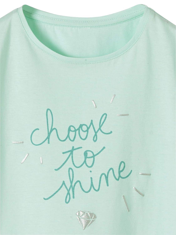 Vertbaudet T-Shirt Fille /à Message Fantaisie Encre gonflante iris/ée