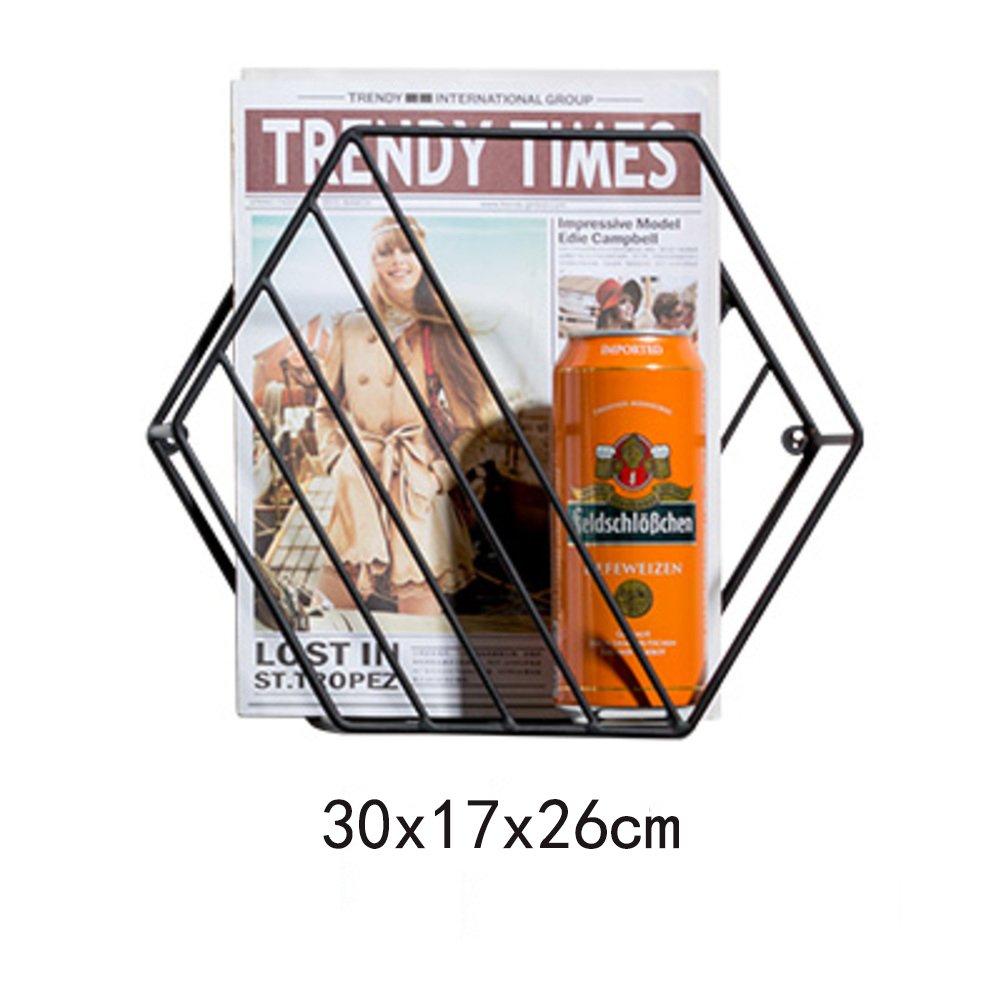 Metall prospekthalter B/ücherregal Bilderb/ücher Zeitungshalter Display-Rack Dekorativer wandbehang Wohnzimmer-Gold A 24x14x21cm WAYER Wand-zeitschriftenhalter 9x6x8inch