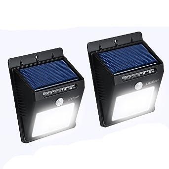 Lampe Solaire Extérieur Jardin16 LED 2 pièces, Kungix Eclairage ...