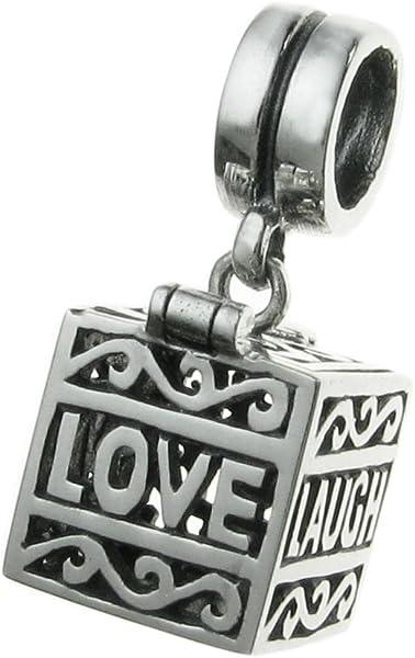 Authentic Nagara Sterling Silver Love Laugh Live Locket Screw Charm for Bracelet