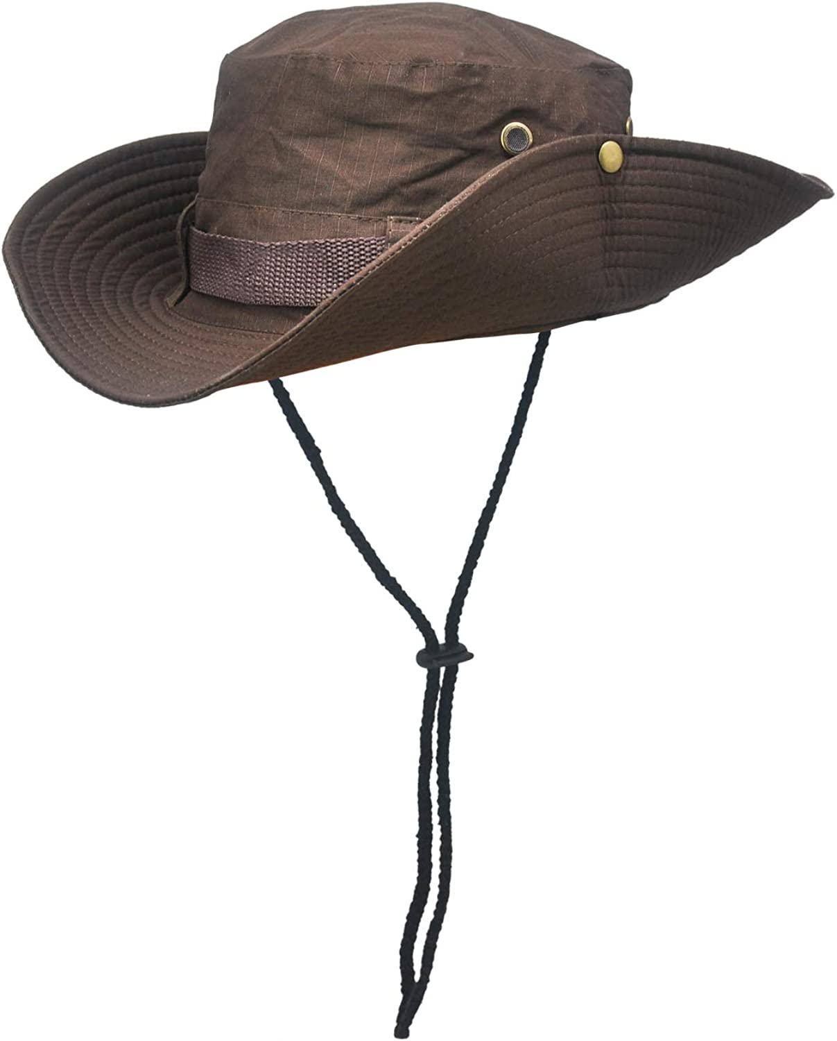 SKIBEAUT Sun Hat for Outdoor Sun Protection Wide Brimmed Breathable Packable Boonie Hat Brown