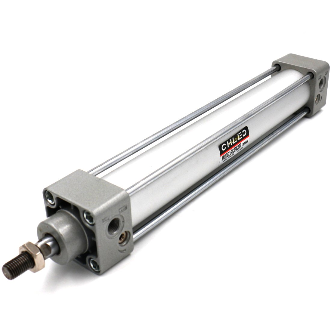 Baomain Pneumatic Air Cylinder SC 32-200 32mm Bore 200mm Stroke Screwed Piston Rod Dual Action