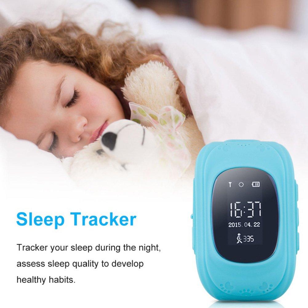 Hinmay Q50 - Reloj inteligente para niños y niñas, ideal como regalo de Navidad, con rastreador GPS y localización de llamadas, podómetro y monitor remoto ...