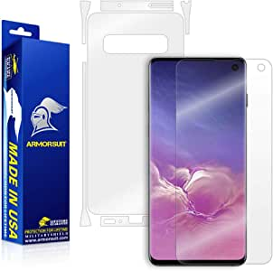 ArmorSuit MilitaryShield Full Body Skin Film + Screen Protector for Samsung Galaxy S10 - Anti-Bubble HD Clear Film