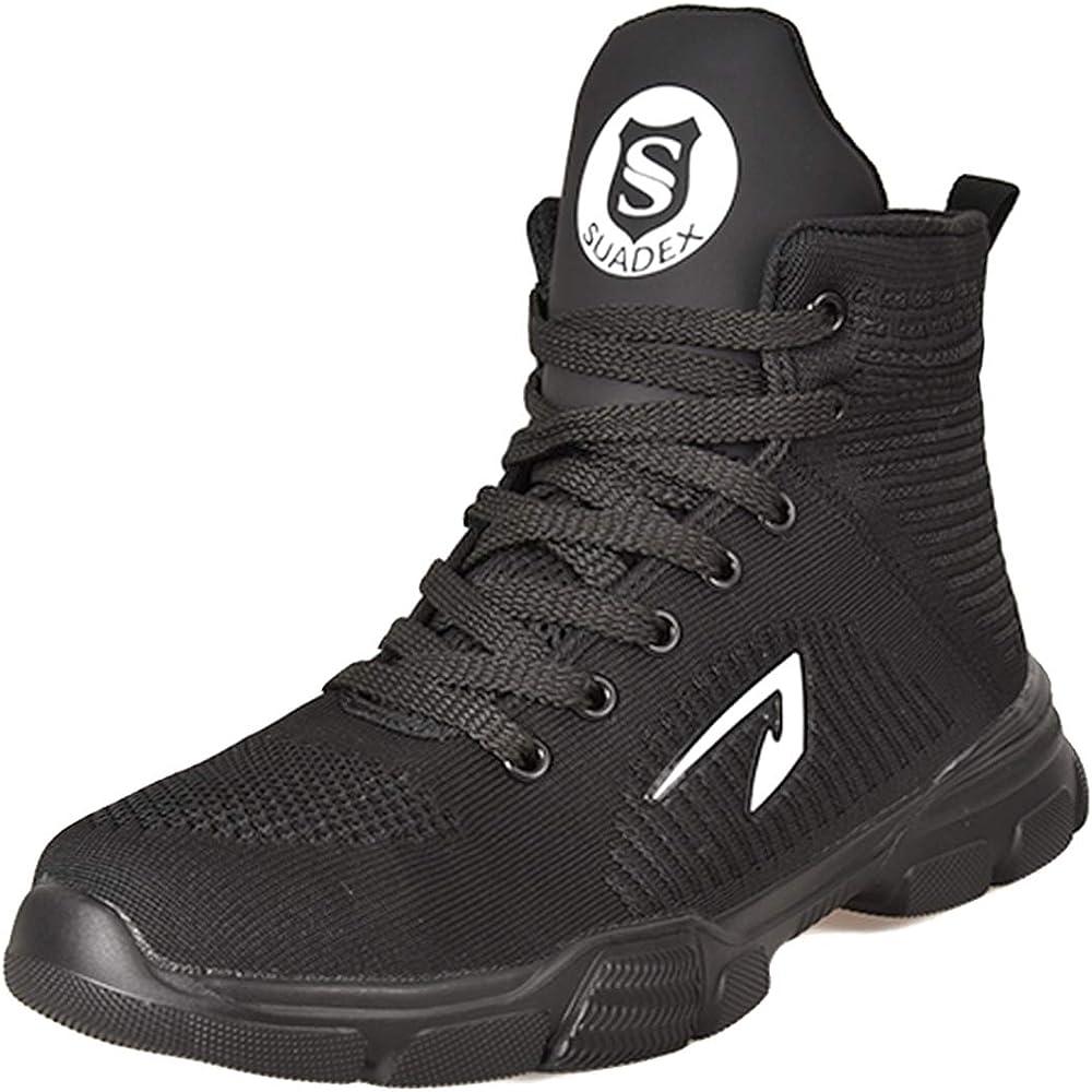 SUADEX Steel Toe Boots for Men Women