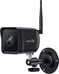 Outdoor Security Camera, Wansview 1080P Wireless WiFi IP66 Waterproof Surveillance Home Camera with Motion Detection, 2 Way Audio, ONVIF and RTSP Protocol and Compatible with Alexa W6 (Black)