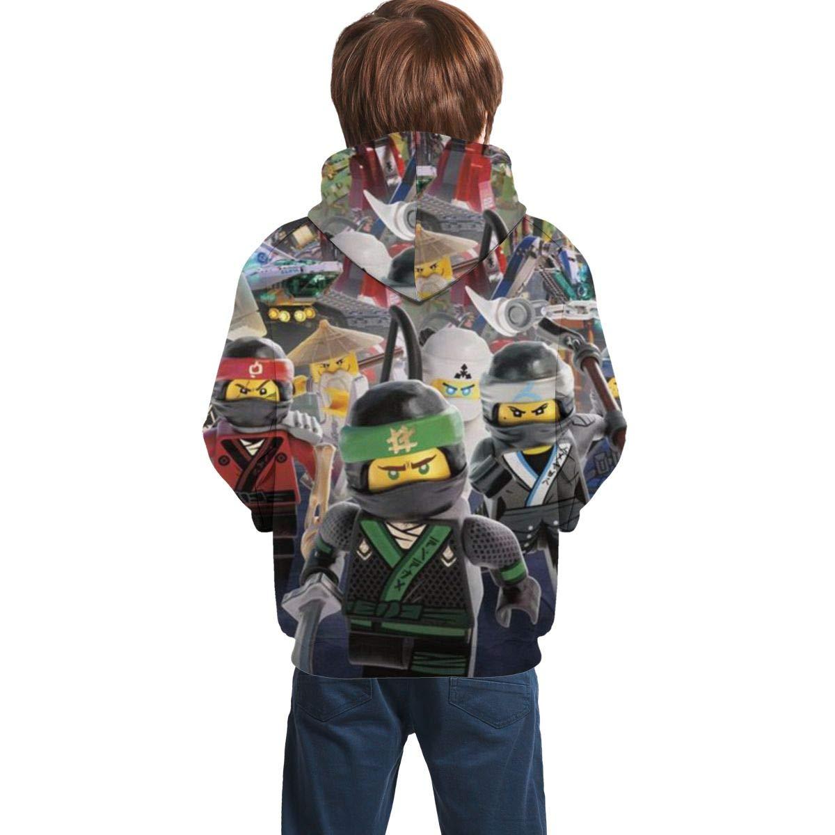 Owen Wilkins Childrens Hoodies Ninja-Go Hooded Sweatshirt Unisex Pocket Hooded Sweatshirts for Boys/Girls/Teen/Kids