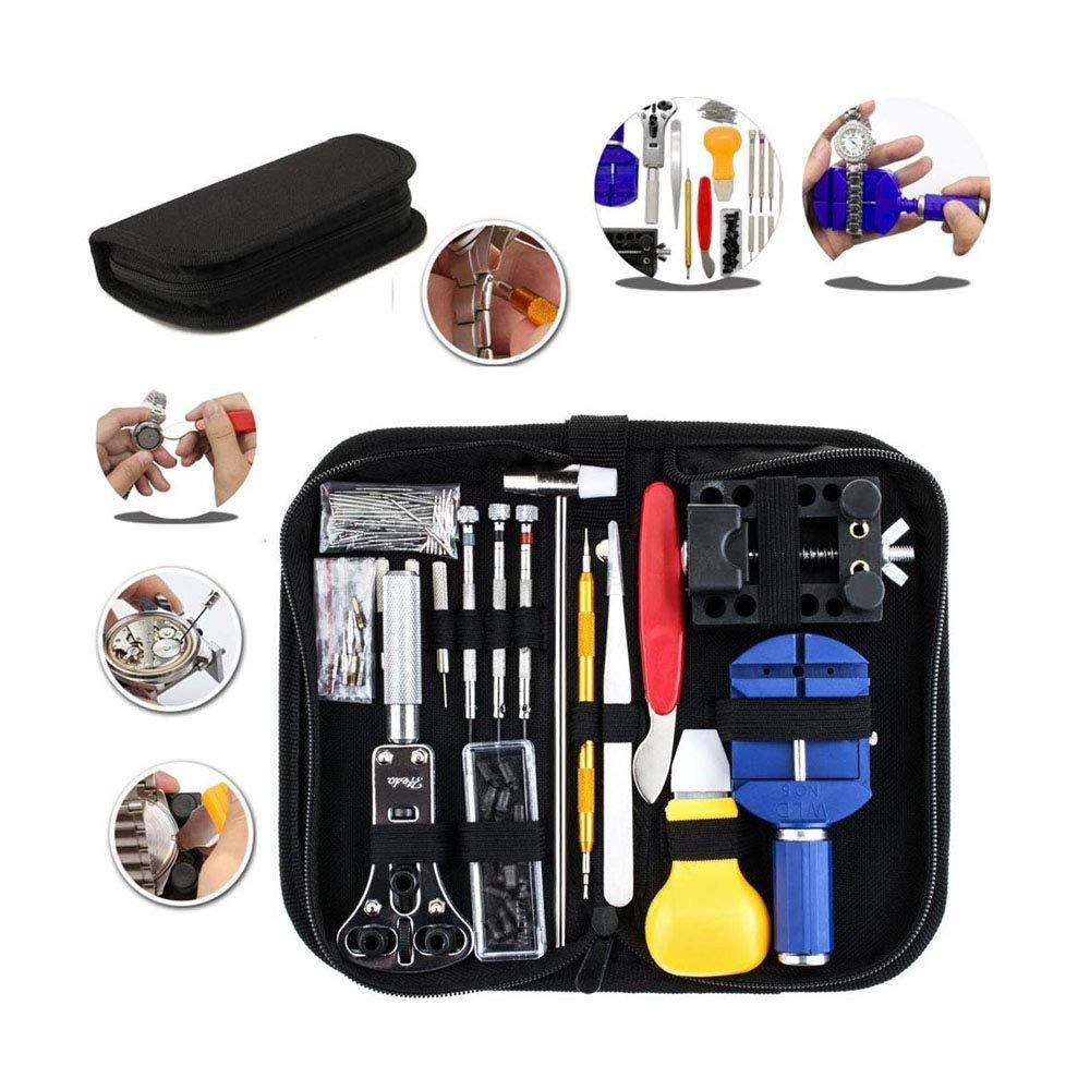 Yaiyu Uhr-Reparatur-Installationssatz, Uhr-Zurü ck-Abbau-Werkzeug mit Tragetasche 147 PCS