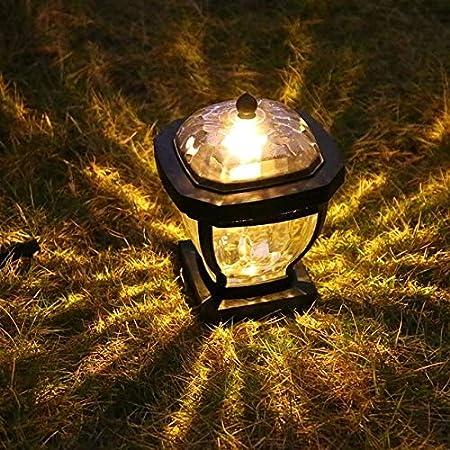 Memnk Solar LED Lámpara de césped Pilar Lámpara Impermeable al Aire Libre del césped del jardín Solar de Cristal de luz Accesorio de iluminación Decorativa del Paisaje de la Calle Linterna: Amazon.es:
