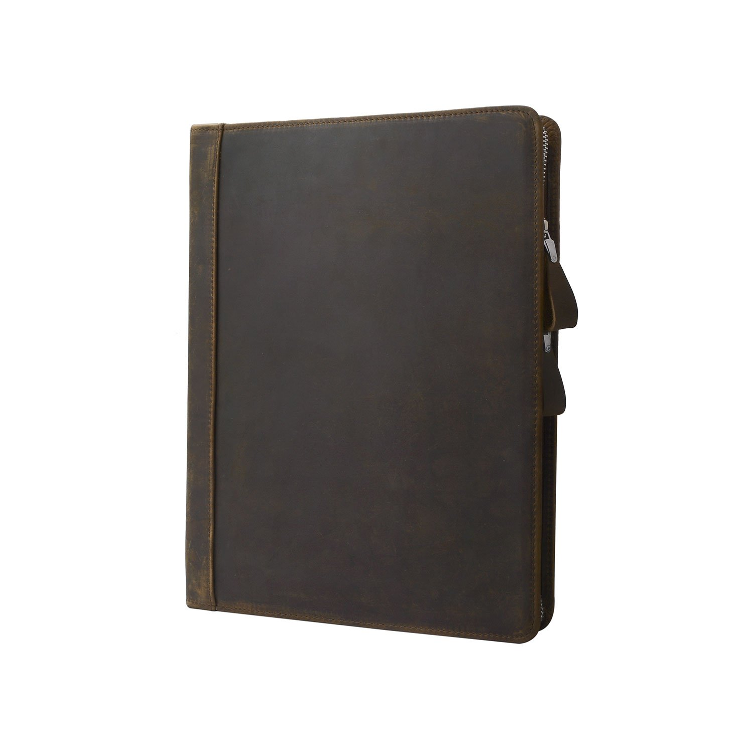 Rustic Leather Padfolio with 3-Ring Binder for Letter A4 Paper, 11-inch MacBook Air, Tan by iCarryAlls (Image #4)