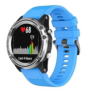 Jintime Para Garmin ascendencia MK1 reloj GPS de repuesto Silicagel suave Kit Banda Reloj de running