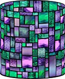LampPix 10.5 Inch Custom Printed Table Desk Lamp Shade Precious Zephyr Stained Glass Style Pattern (Spider Fitting)