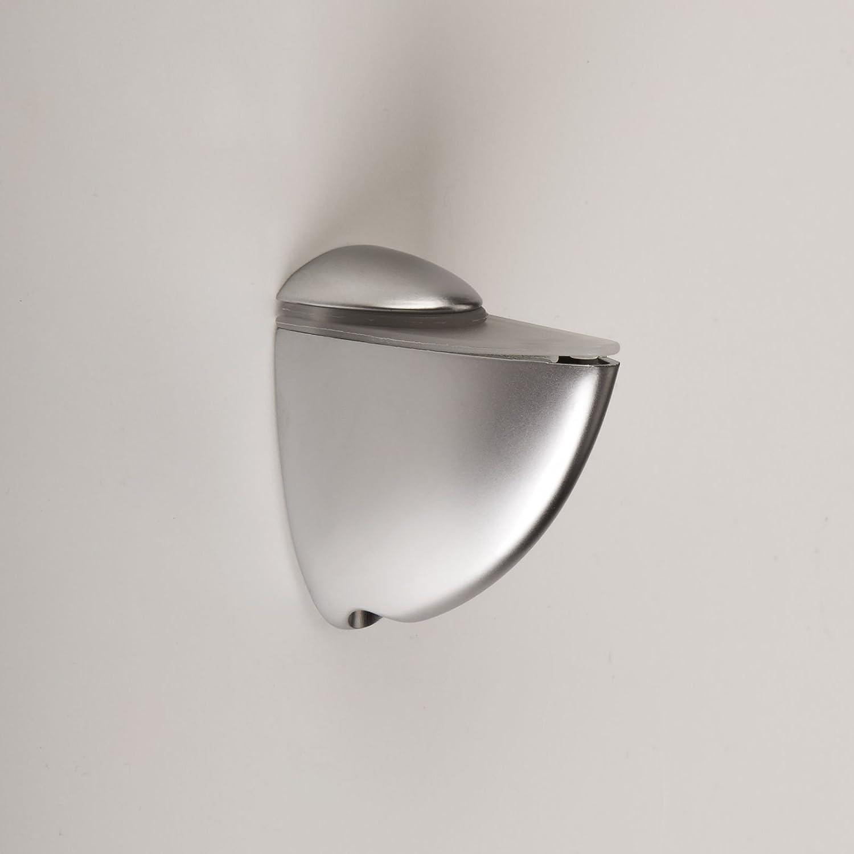 SO-TECH/® Soutien /étag/ères Taquets pour fonds en verre PELIKAN aspect dacier affin/é mat grand