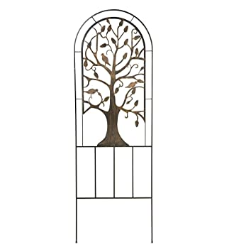 Incroyable Metal Garden Trellis With Tree Of Life Design