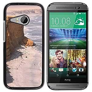 TopCaseStore / la caja del caucho duro de la cubierta de protección de la piel - Seashore Desert Ocean Sand Beach - HTC ONE MINI 2 / M8 MINI