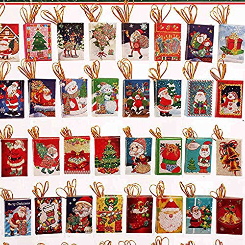 Christmas Tree Photo Card (Koogel (50pcs/lot) Cute Christmas Card Mini Cards Christmas Tree Hanging Card Tree Christmas Decorations Creative Tags(Assorted))