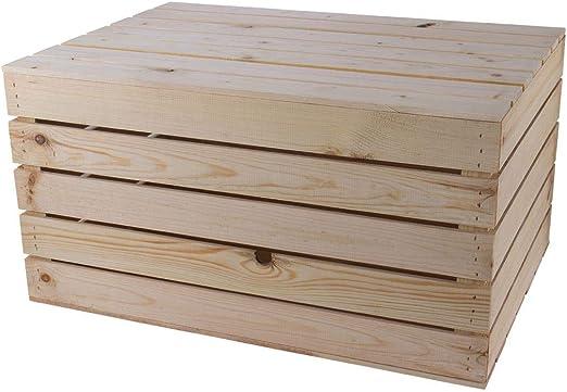 Moooble - Baúl de madera grande y claro, 85 x 55 x 46 cm, caja de ...