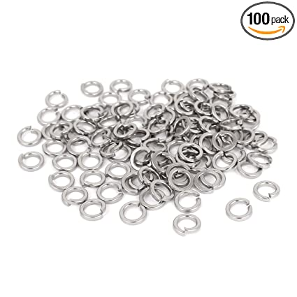 uxcell Screw Bolt Stainless Steel M4 Split Lock Spring Washers Gasket 200pcs