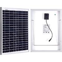 Betop-camp Panel solar de 20 vatios con cable de 5 m y pinza de cocodrilo para vehículos recreativos, caravanas…
