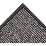 Notrax 132 Estes Entrance Mat, for Main Entranceways and Heavy Traffic Areas, 3' Width x 10' Length x 3/8'' Thickness, Charcoal