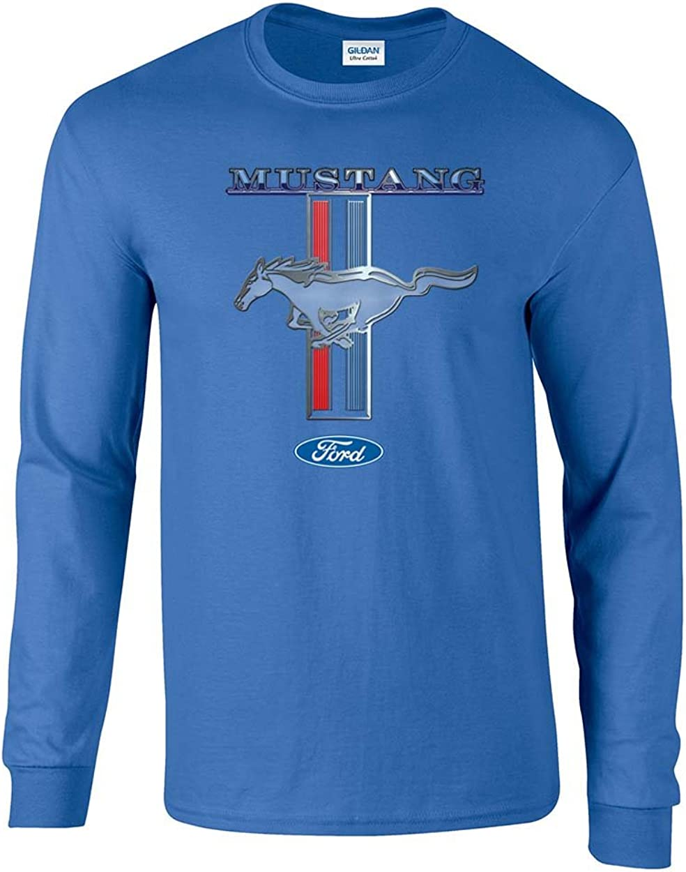 Ford Mustang T-Shirt Ford Mustang Pony /& Stripes Long-Sleeve