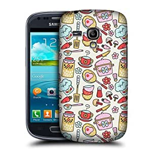Cook Kitchen Doodle Case For Samsung Galaxy S3 Iii Mini I8190