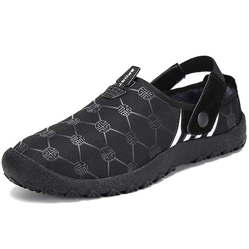 Zapatillas casa Hombre Invierno Mujer Suave Algodón Zapatilla Interior/al Aire Libre Zapatillas de Estar por casa Unisexo...: Amazon.es: Zapatos y ...