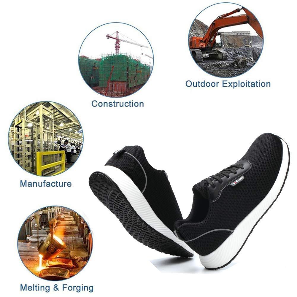 tqgold/® Homme Femme Chaussure de S/écurit/é Utility Chaussure de Travail avec Embout de Protection en Acier