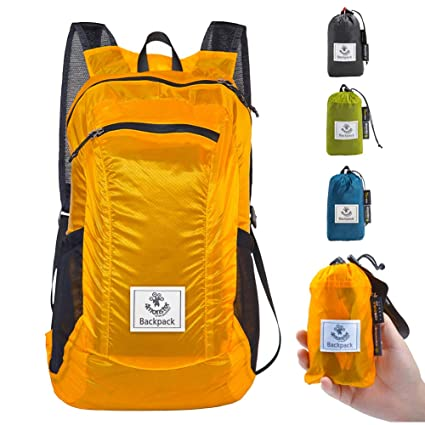4monster Durable Packable Backpack by Ultra Lightweight Water Resistant  Travel Hiking Foldable Outdoor Daypack 30560b72a8fd9