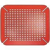 InterDesign Contour Kitchen Sink Protector Mat, Red