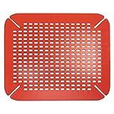 Kitchen Sink Accessories InterDesign Contour Kitchen Sink Protector Mat, Red