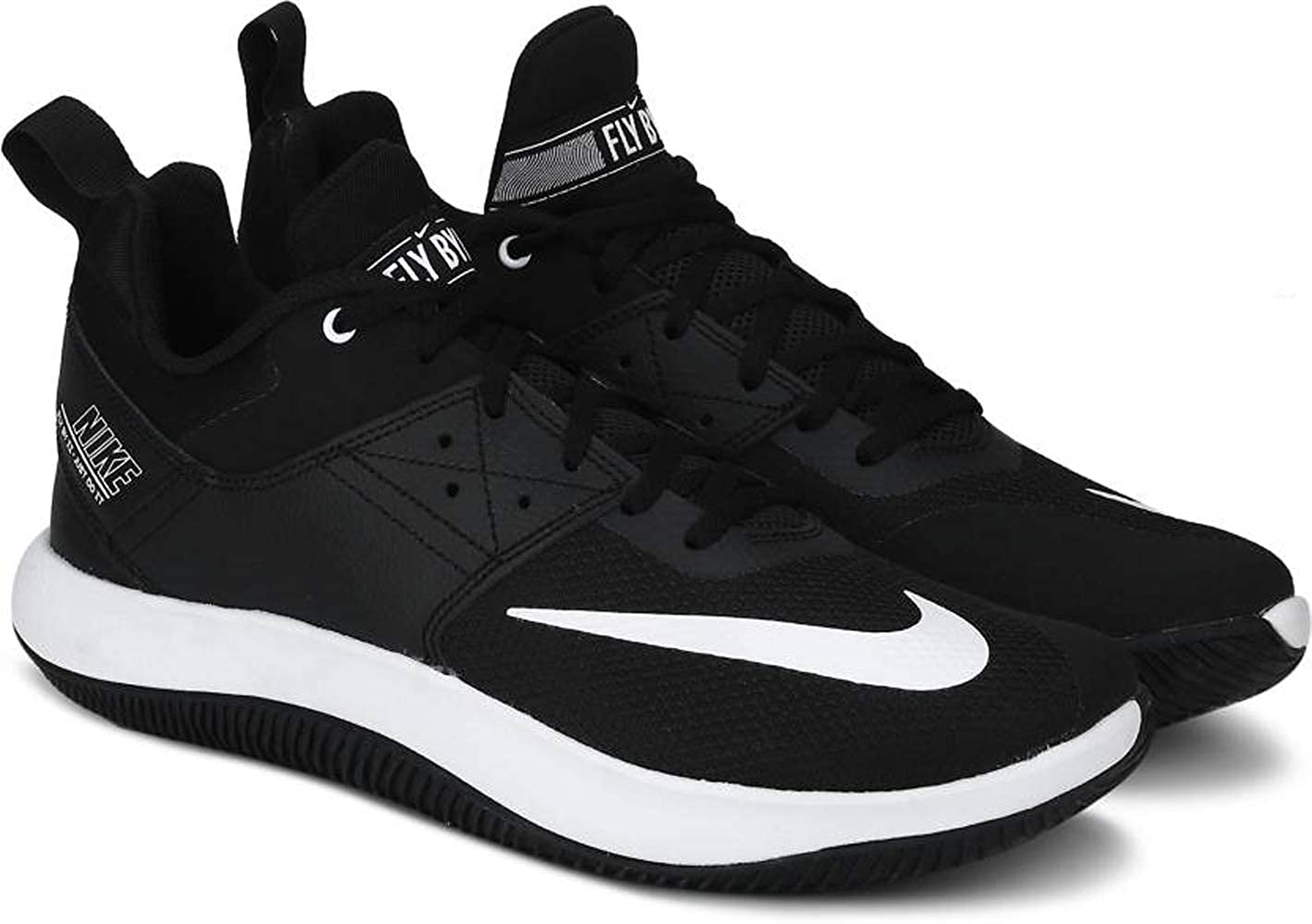 bb3cb0ea52c Nike Men s Fly.by Low II Black-White Basketball Shoes (AJ5902-011)  Buy  Online at Low Prices in India - Amazon.in