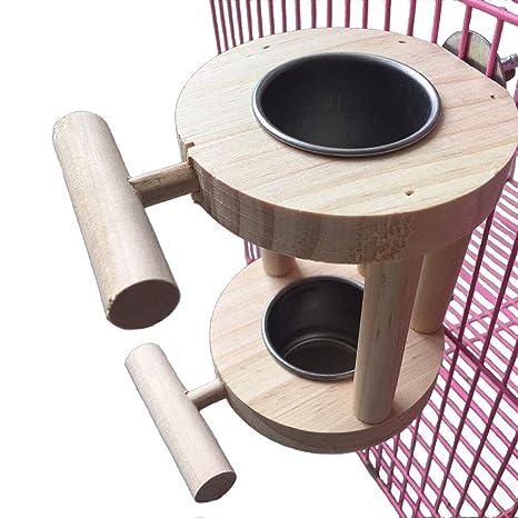 Amazon.com: PIVBY - Comedero de pájaros de acero inoxidable ...
