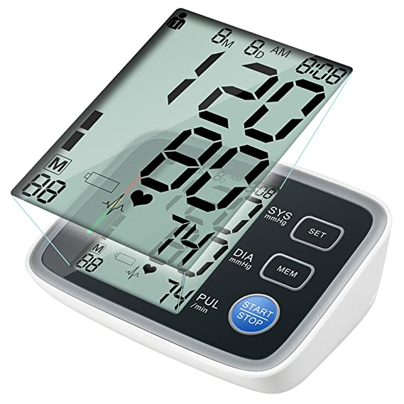 XIAOXINYUAN Elera Tensiometros Digital Monitor De Presión Arterial Del Brazo Superior Tonómetro Portátil Presión Arterial Esfigmomanómetro Pulsioximetro: ...