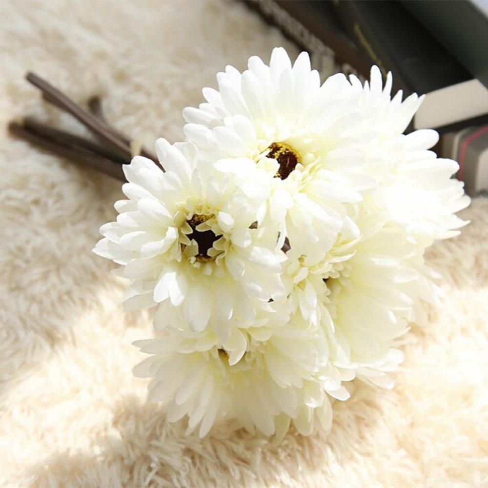 Hot Artificial Gerbera Gerber Daisy 7 Heads Silk Flower Wedding Home Decor US