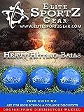 Elite Sportz Gear 12 Pack Heavy Hitting Practice Baseball - Weighted - Softball - Trainer 15 oz - 2.8 inch Diameter