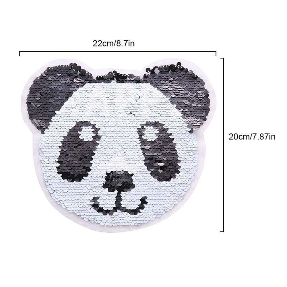 Panda - Parches de lentejuelas reversibles para coser ropa DIY ...