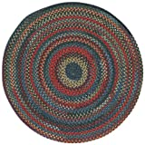 Capel Rugs High Rock Round Braided Area Rug, 3′, Blue For Sale