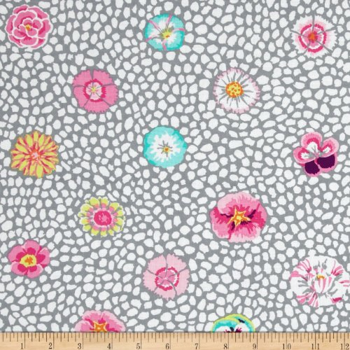 FreeSpirit Fabrics Kaffe Fassett Collective Quarry Guinea Flower Fabric by The Yard, Grey