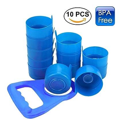 XinHome Tapón para Botella de Agua, 10 Tapones para Botella Reutilizables antisalpicaduras con 1 asa
