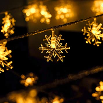 led illumination flashing light string lights outdoor christmas lights snow lantern lights full of stars
