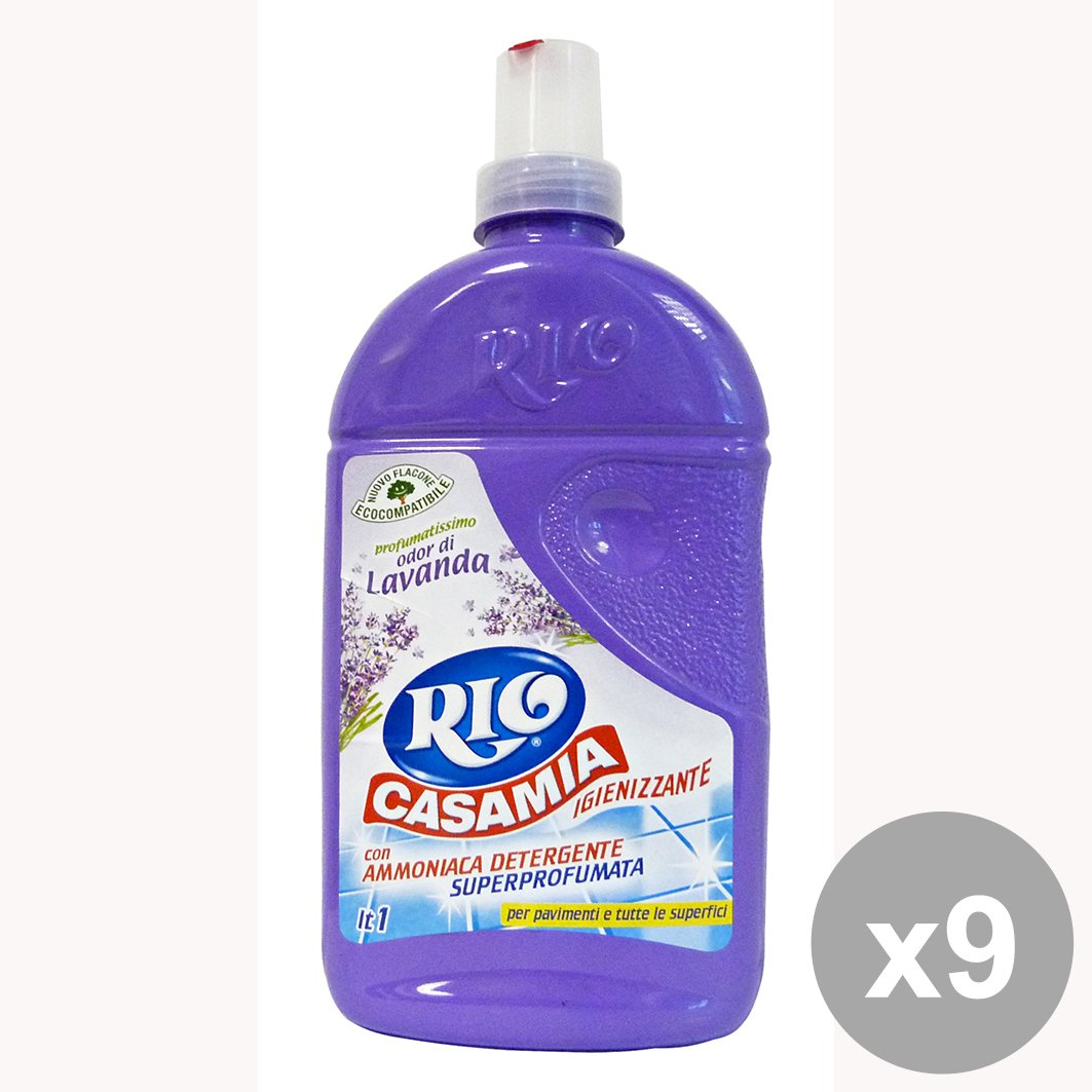 Set di 9 RIO CASAMIA Pavimenti Lavanda 1 LT Detergenti Casa